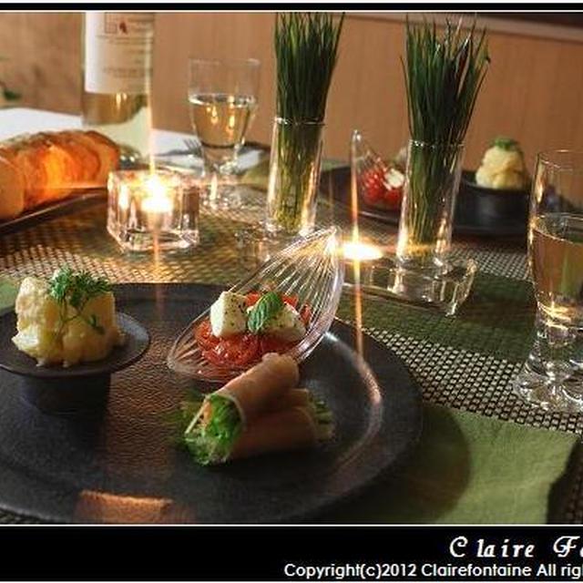 牡蠣と春菊のクリームスパゲティ