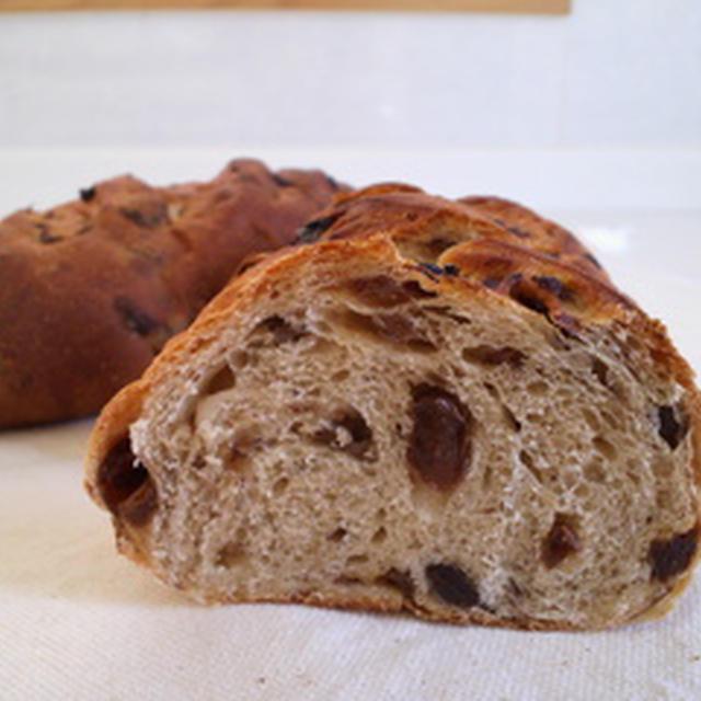 白神こだま酵母のレーズンパン  Pain aux raisins secs