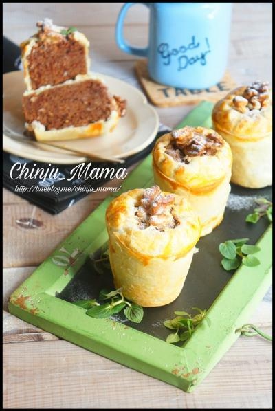 【パン粉と冷凍パイシートで♩】フワフワふかふか♡パイチョコケーキ
