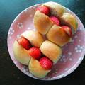 ライスミルク入りのちぎりパンでいちごメープルサンド♪ by springcheeseさん