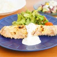 【モニター】秋鮭のパン粉焼きカッテージチーズソース