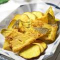 【茨城新名物料理】ヒラメの骨と薩摩芋チップのカリッとカレー風おつまみ☆