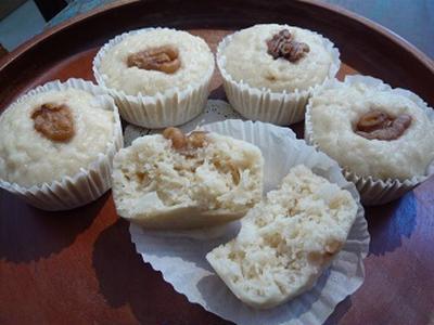 自家製玄米酵母でグルテンフリー玉ねぎ蒸しパン レシピ