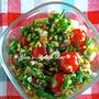 日持ち3〜4日♡暑い夏にサッパリ食べれる♡『ミニトマトと香味野菜のサラダ』《簡単*節約*作り置き*お弁当》