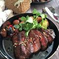 バレンタインディナーは赤身肉でステーキ!!