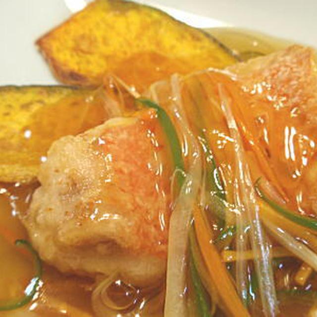 金目鯛の野菜あんかけ(レシピ付)