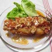 白身魚の唐揚げ ねぎソース