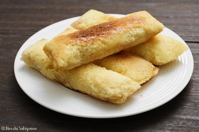 アルミホイルで包んで焼く、白あんのホイルケーキのレシピ