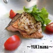 レシピブログイチオシレシピ掲載♪〜秋鮭のねぎ塩チーズソースのグリル〜