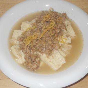 自家製凍り豆腐と鶏そぼろの煮込み・料理レシピ