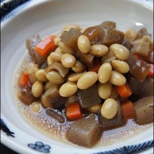 五目豆の簡単レシピ。と、七夕そうめん。