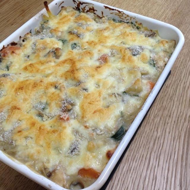 嫁の好きな牡蠣とチーズをふんだんに 「牡蠣のマカロニグラタン」
