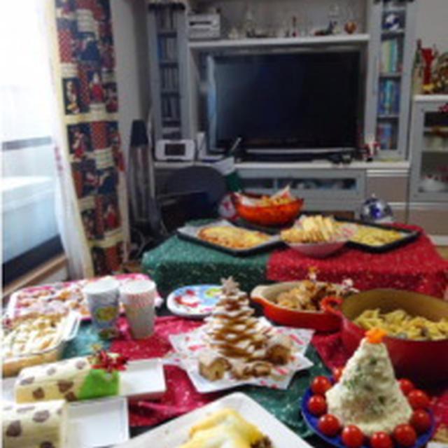 お友達のお家でクリスマスパーティー!
