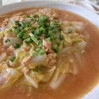 白菜と鶏のうま味をスープで味わう♪ ハンブレ鶏ひき肉でつゆだくマーボー白菜