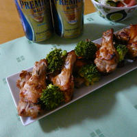 鶏手羽元のオーブン焼き~生姜醤油風味