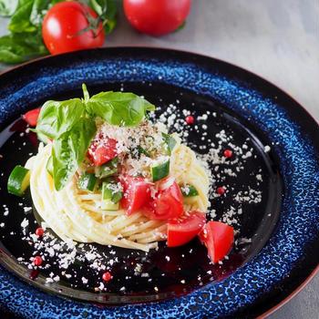 【ワンボウル】トマトと帆立の冷製スパゲッティ