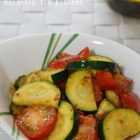 ズッキーニとミニトマトの簡単旨炒め