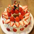 シフォンケーキ(うらごしコーン入)でクリスマスケーキ!
