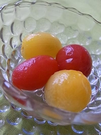 ミニトマトのコンポート。