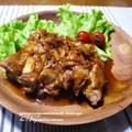 <鶏肉でキムチ味の照り照り煮>