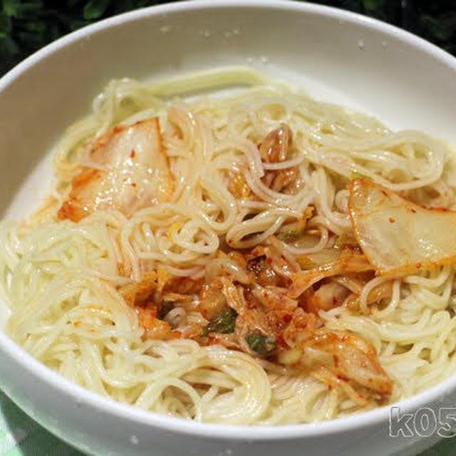 そうめんを韓国冷麺風にして食べる
