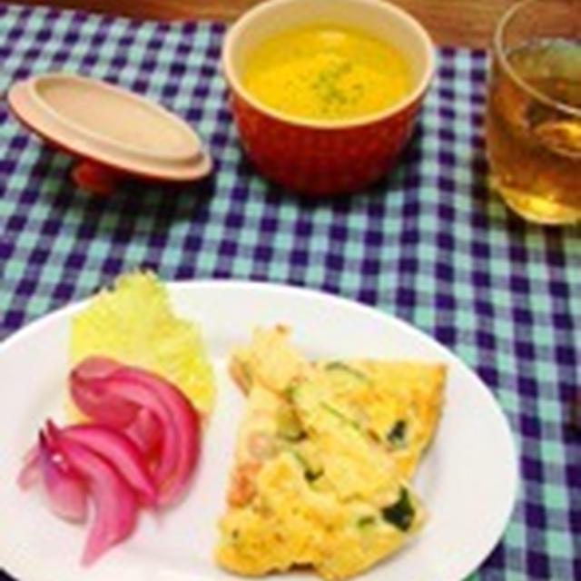 塩麹づけ豚肉と夏野菜のパスタ