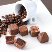2018バレンタイン ①コーヒーガナッシュとミルクチョコのボンボンショコラ
