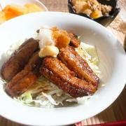 秋刀魚の蒲焼き丼とハロウィン弁当
