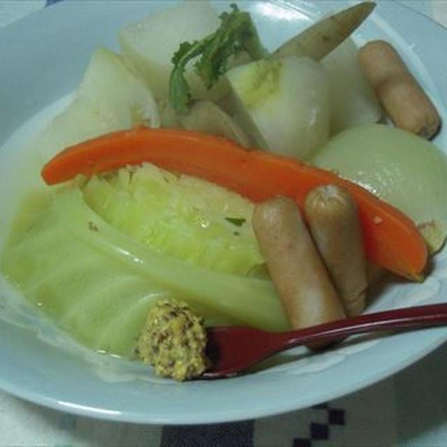 ポトフ、野菜たっぷり温まろう!