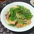☆秋鮭と水菜のペペロンチーノ☆