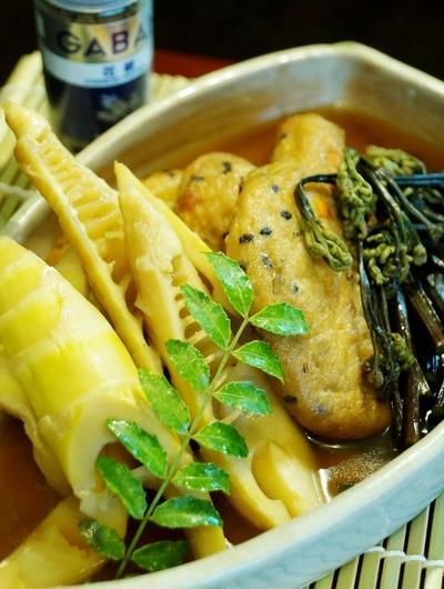 【花椒香る 真竹/蕨/がんもの甘辛煮】和ならではの心安らぐ美味しさです^^