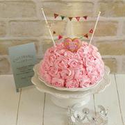 * バースディケーキ ♡ 苺のドームケーキ♪