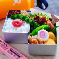 春を感じる日の丸弁当/ミニお好み焼きレシピ