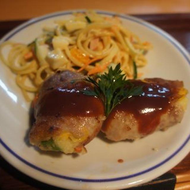 豚肉のポテト包み焼き