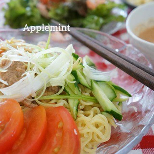 野菜たっぷりトマト風味の豆乳冷やし担々麺