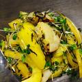 ベビーホタテとパプリカとブロッコリースプラウトのサラダ