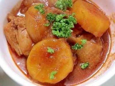 健康法師の 夫の作った チキンとさつまいもの韓国風煮物