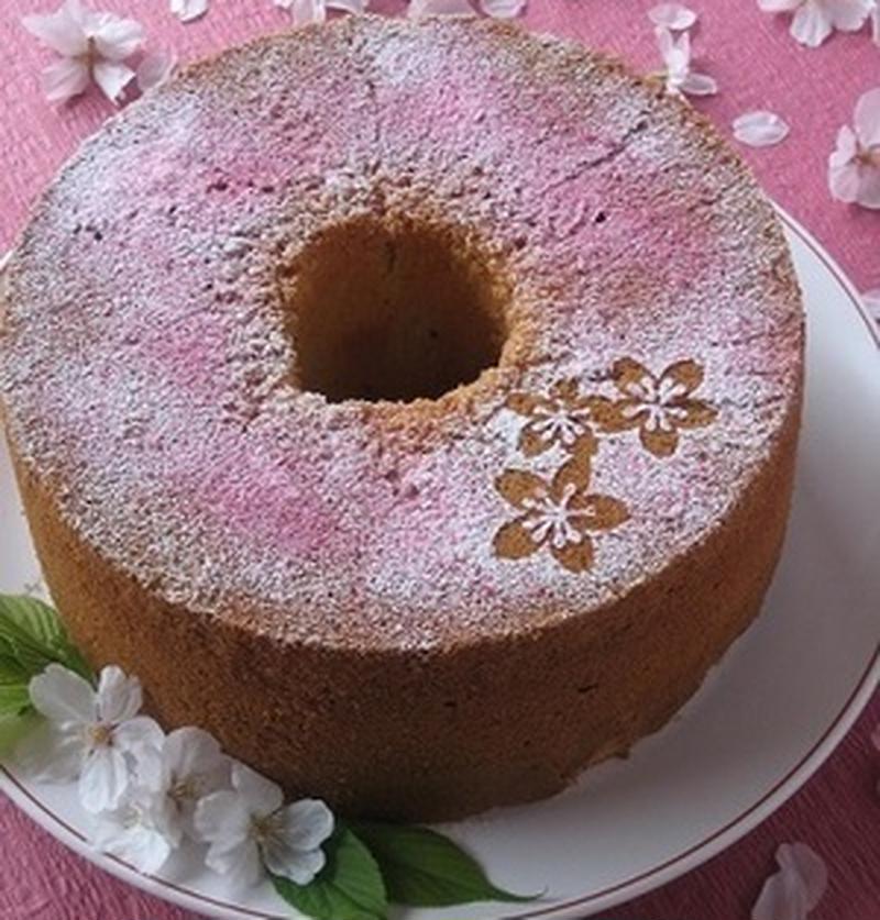 春色ケーキ♪桜シフォンを作ろう
