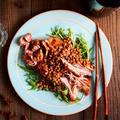 レンズ豆と中華風煮豚【スパイス大使】