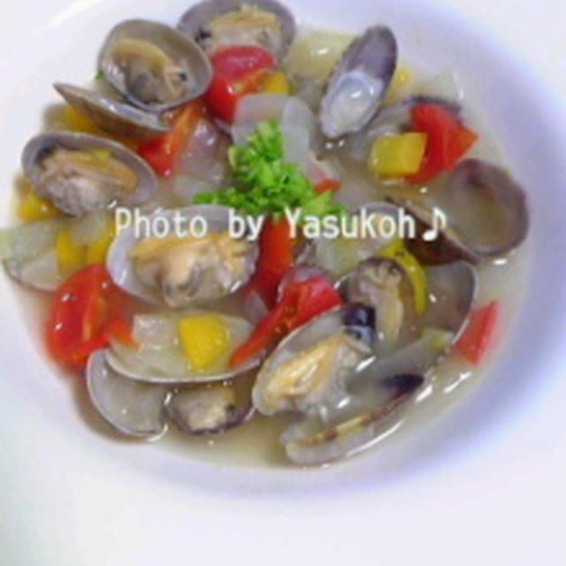美容レシピ☆あさりのスープ☆チキンソテーズッキーニとかぶの豆乳クリーム☆