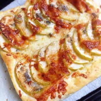 ☆林檎とゴルゴンゾーラのパイピザ