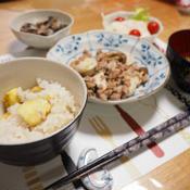 里芋と豚挽肉の中華炒め