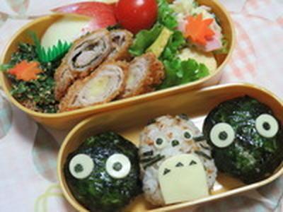 トトロのお弁当☆ 豚肉の梅しそ巻きのフライ