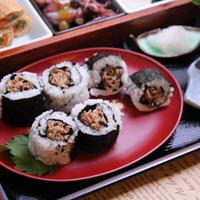 すき屋の牛丼の具de白黒海苔巻き(モニターレシピ)