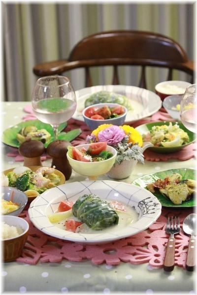 【レシピ】ホワイトシチューロールキャベツ。と 献立。と どうしてご飯を作るのか。
