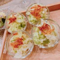 あつあつの米油に桜海老の香り〜超簡単・白菜のアミューズ♪