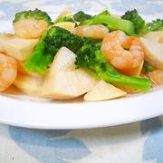 タケノコと海老ブロッコリーの簡単とろみ炒め♪