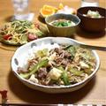 【青梗菜とそぼろ豆腐のあんかけ丼】#節約#簡単#スピードごはん …試合2日前の献立。