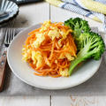 ふわふわ卵はあと混ぜで【麺つゆで簡単*卵入りにんじんしりしり】10分/冷蔵4日/フライパン