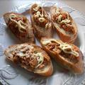フランスパンでツナマヨ